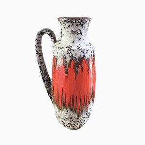 West German Model 426-47 Orange Fat Lava Vase from Scheurich, 1960s