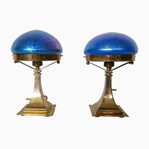 Jugendstil Table Lamps, Set of 2