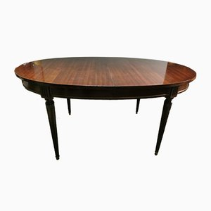 French Mahogany Extendable Dining Table, 1950s