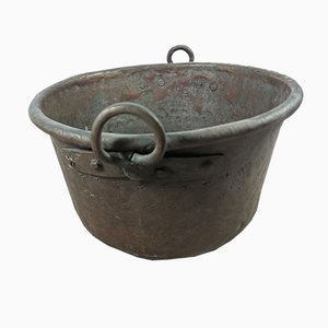 Antike italienische Kupferschüssel