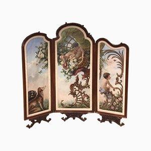 Antiker französischer Raumteiler aus Nussholz