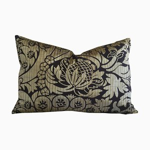 Floral Silk Jacquard Pillow by Katrin Herden for Sohil Design