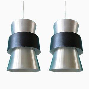 Dänische Horn Deckenlampen, 1960er, 2er Set