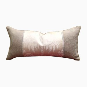 Ivory Silk Damask Pillow by Katrin Herden for Sohil Design