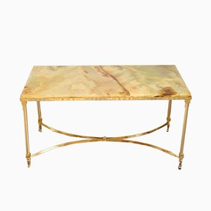 Marble & Brass Coffee Table, 1960s