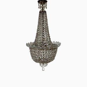 Antique Crystal Chandelier, 1900s