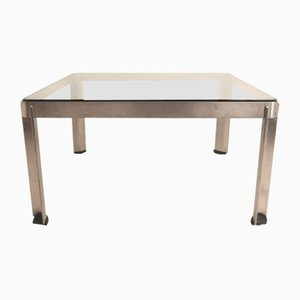 Italian Model T113 Stainless Steel and Glass Coffee Table by Centro Progetti for Tecno, 1970s