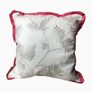 Metallic Floral Embroidery Pillow by Katrin Herden for Sohil Design