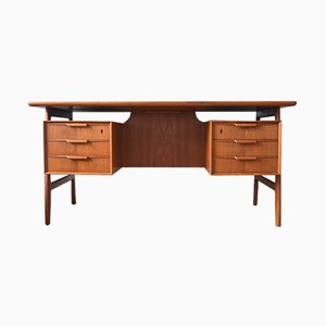 Teak Model 75 Desk from Gunni Oman, 1960s