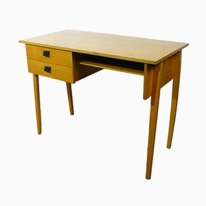 Wood & Beech Veneer Desk, 1950s
