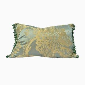 Cuscino Celadon in seta damascata di Katrin Herden per Sohil Design, Francia