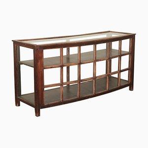 Mueble italiano de vidrio y madera blanda, años 40