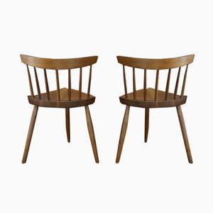 Side Chairs by George Nakashima for Nakashima Studio, 1989, Set of 2