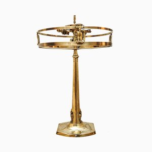 Art Nouveau Brass Table Lamp, 1930s