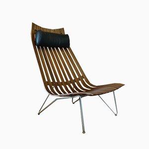 Sessel aus Teak & Leder von Hans Brattrud für Hove Møbler, 1960er