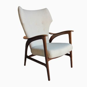 Mid-Century Danish Wingback Armchair by Ib Madsen & Acton Schubell, 1940s