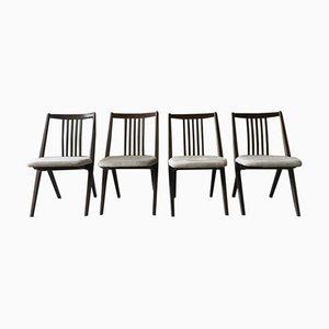Dänische Esszimmerstühle aus Ulmenholz, 1960er, 4er Set