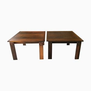 Swedish Rosewood Side Tables, 1970s, Set of 2