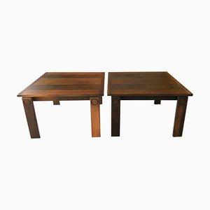 Tavolini in palissandro, Svezia, anni '70, set di 2