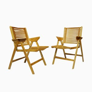 Folding Chairs by Niko Kralj, 1952, Set of 2