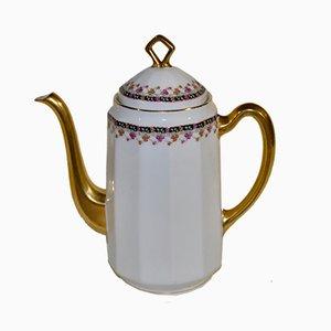 Kaffeekanne aus Porzellan von Limoges, 1940er