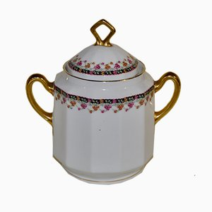 Porcelain Sugar Bowl from Limoges, 1940s