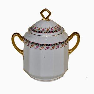Zuckerdose aus Porzellan von Limoges, 1940er