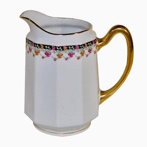 Milchkanne aus Porzellan von Limoges, 1940er
