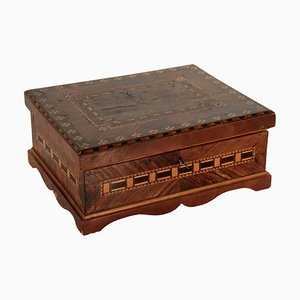 Antique Italian Rosewood Veneered Box, 1800s