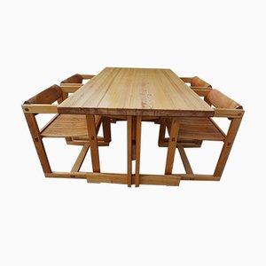 Mesa de comedor modelo Trybo de Edvin Helseth para Stange Bruk, 1966. Juego de 4
