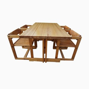 Model Trybo Dining Table by Edvin Helseth for Stange Bruk, 1966, Set of 4