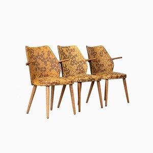 Dänische Esszimmerstühle mit Sitz aus Vinyl, 1970er, 3er Set