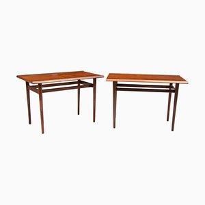 Tables d'Appoint en Palissandre par Arne Vodder pour Sibast, années 60, Set de 2