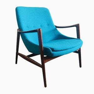 Sessel mit Gestell aus Teak von Rolf Rastad & Adolf Relling für Dokka Møbler, 1950er