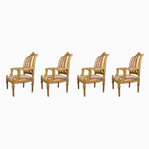 French Armchairs, 1950s, Set of 4