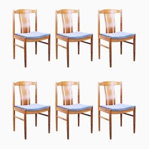 Sedie da pranzo in teak, Danimarca, anni '60, set di 6