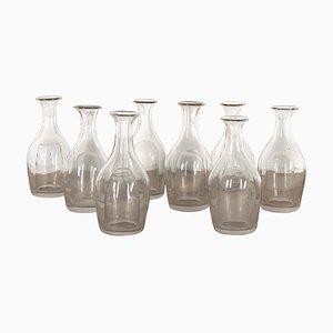 Glass Water Carafes, 1889, Set of 9