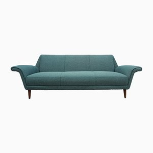 Danish Green Tweed 3-Seat Sofa, 1960s
