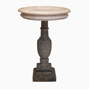 Pedestal francés antiguo de mármol, década de 1700