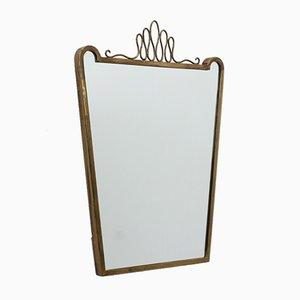 Espejo con marco de latón de Gio Ponti, años 50
