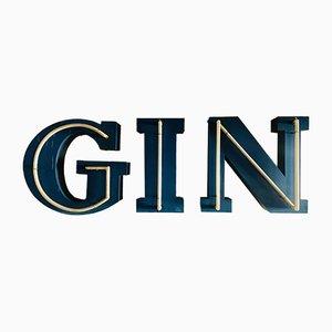 Gin Neonschriftzug, 1970er