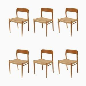 Vintage Esszimmerstühle von Niels Otto Møller für J.L. Møllers, 6er Set