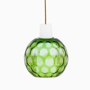 Lámpara colgante de burbuja de vidrio de Aloys Gangkofner para Peill & Putzler, años 60