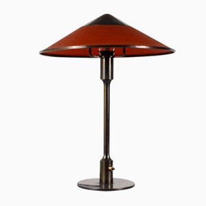 Danish Bronze and Brass Mullein Table Lamp by Niels Rasmussen Thykier from Fog & Mørup, 1950s