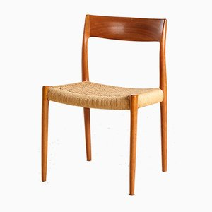 Model 77 Teak Dining Chair by Niels Otto Møller for J.L. Møllers, 1960s