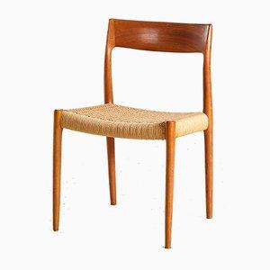 Modell 77 Stuhl aus Teak von Niels Otto Møller für J.L. Møllers, 1960er