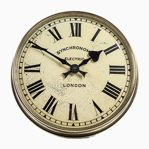 Brass Wall Clock from Synchronome, 1930s