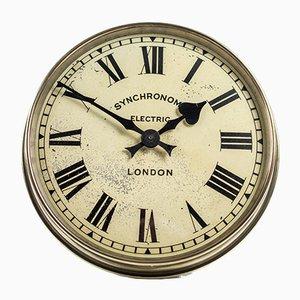 Orologio da parete in ottone di Synchronome, anni '30