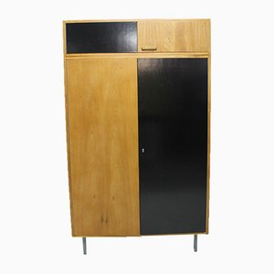 Modernist Beech Wardrobe by František Jirák for Tatra, 1970s