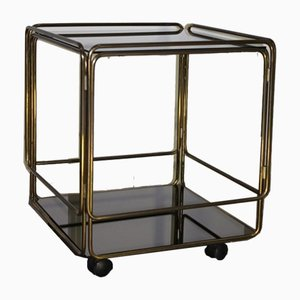 Mid-Century Italian Brass and Glass Trolley